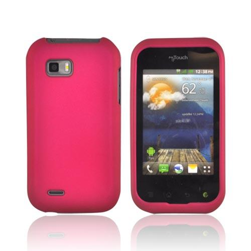 T-Mobile MyTouch Q Rubberized Hard Case - Rose Pink