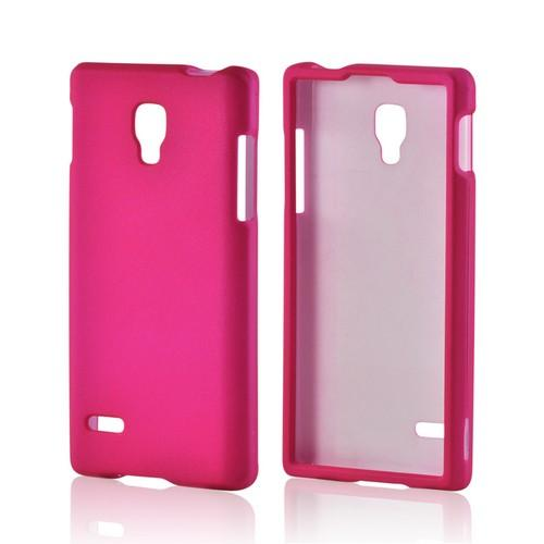 Hot Pink Rubberized Hard Case for LG Optimus L9