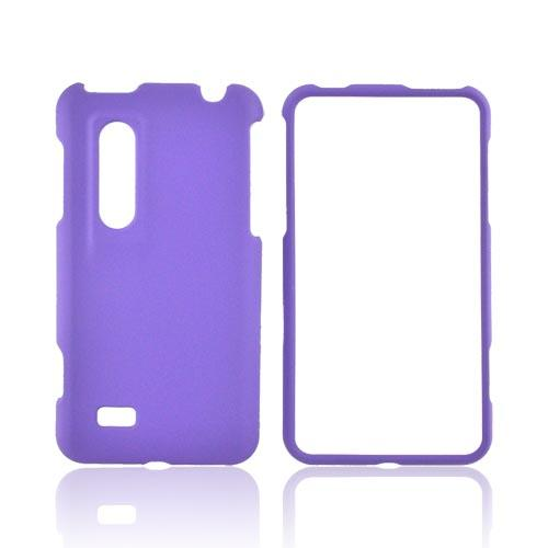 LG Thrill Rubberized Hard Case - Purple