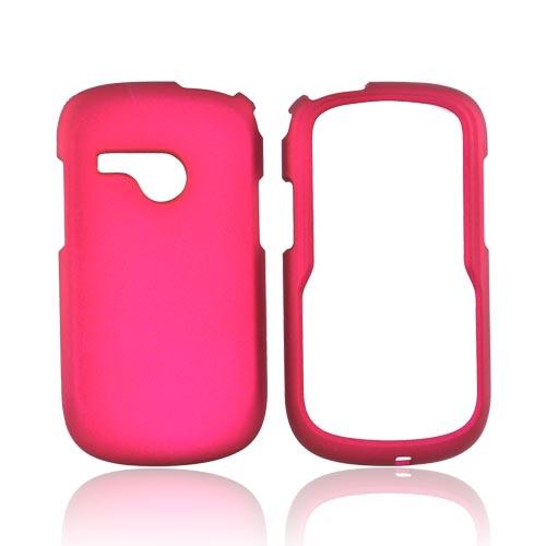 LG Saber UN200 Rubberized Hard Case - Magenta