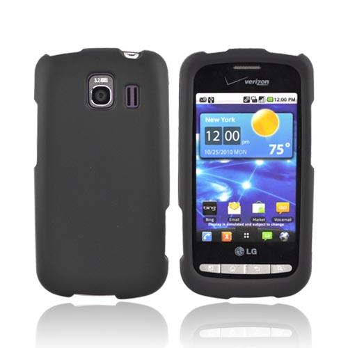 LG Vortex Rubberized Hard Case - Black