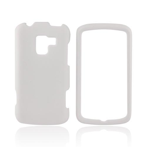 LG Enlighten VS700 Rubberized Hard Case - Solid White