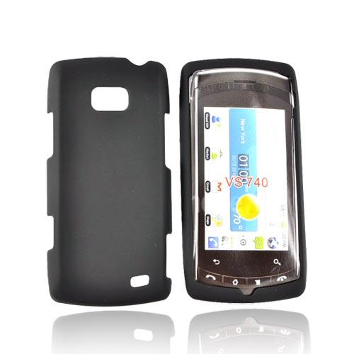 LG Ally VS740 Rubberized Hard Case - Black