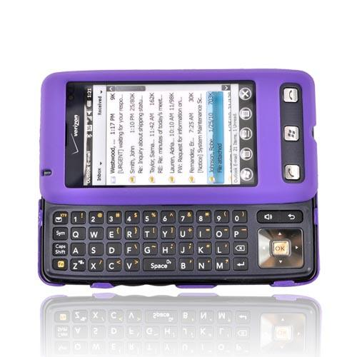 LG Fathom VS750 Rubberized Hard Case - Purple