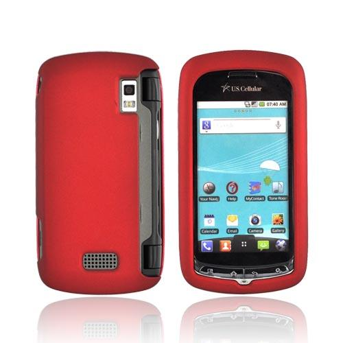 LG Genesis VS760 Rubberized Hard Case - Red