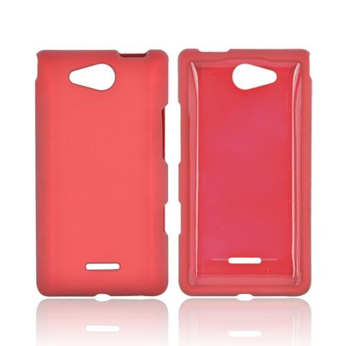LG Lucid VS840 Rubberized Hard Case - Red
