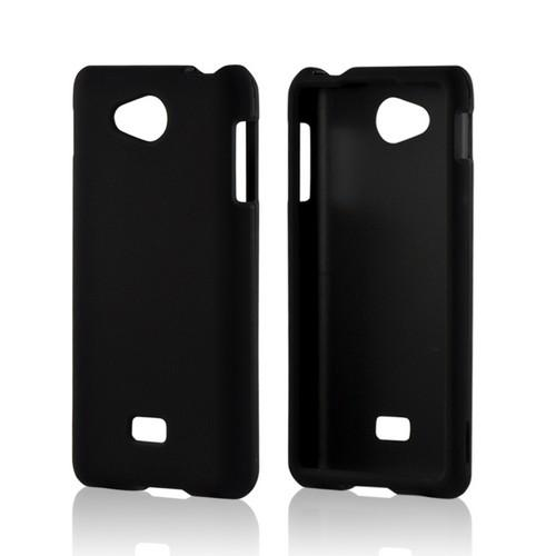 Black Rubberized Hard Case for LG Spirit 4G