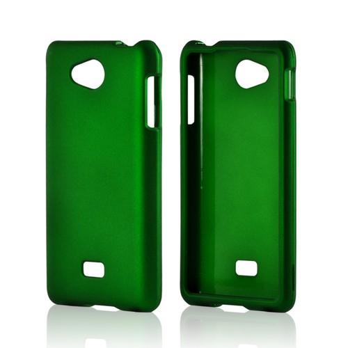Green Rubberized Hard Case for LG Spirit 4G