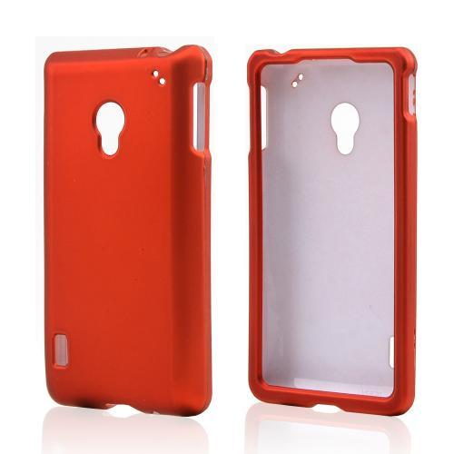 Orange Rubberized Hard Case for LG Lucid 2