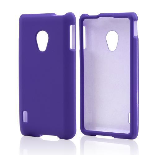 Purple Rubberized Hard Case for LG Lucid 2