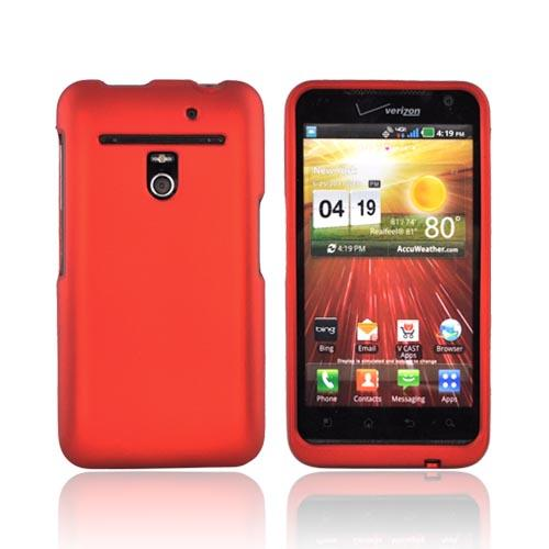 LG Revolution, LG Esteem Rubberized Hard Case - Orange