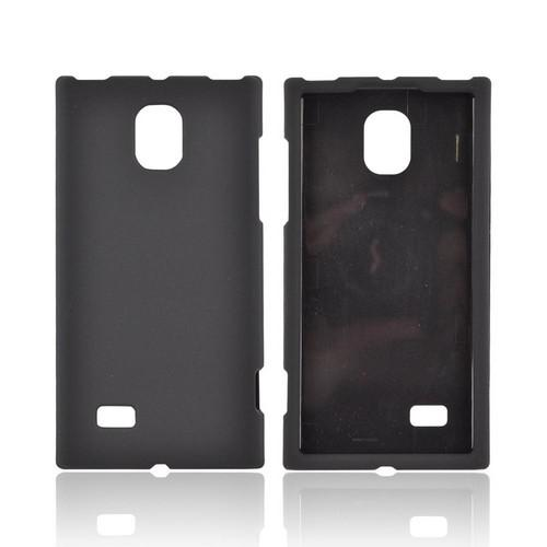 LG Optimus VS930 (Optimus LTE II) Rubberized Hard Case - Black