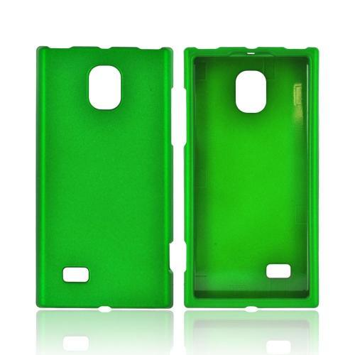 LG Spectrum 2 VS930 Rubberized Hard Case - Green