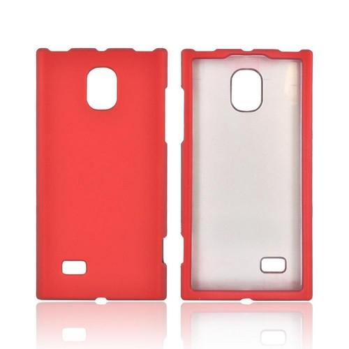 LG Optimus VS930 (Optimus LTE II) Rubberized Hard Case - Red
