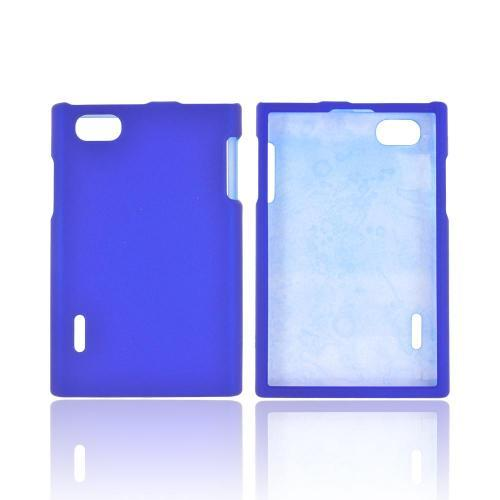 LG Optimus Vu VS950 Rubberized Hard Case - Blue