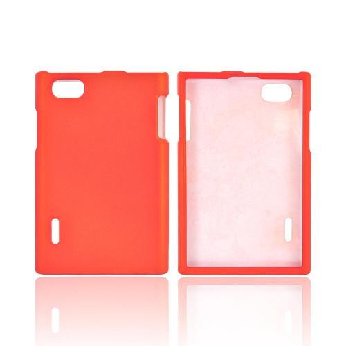 LG Optimus Vu VS950 Rubberized Hard Case - Orange