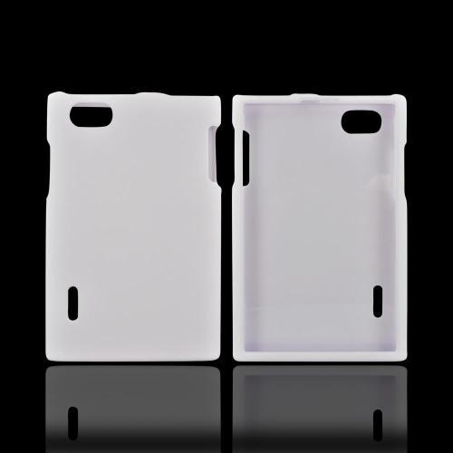 LG Optimus Vu VS950 Rubberized Hard Case - White