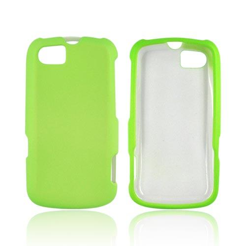 Motorola Admiral Rubberized Hard Case - Neon Green