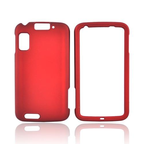 Motorola Atrix 4G Rubberized Hard Case - Red