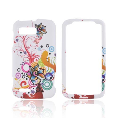 Motorola Atrix 2 Rubberized Hard Case - Autumn Floral Design on White