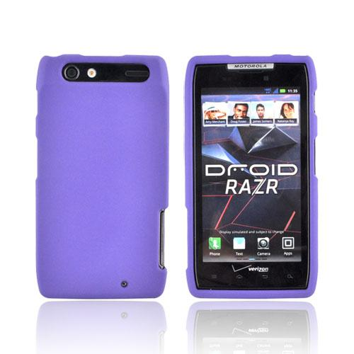 Motorola Droid RAZR Rubberized Hard Case - Purple