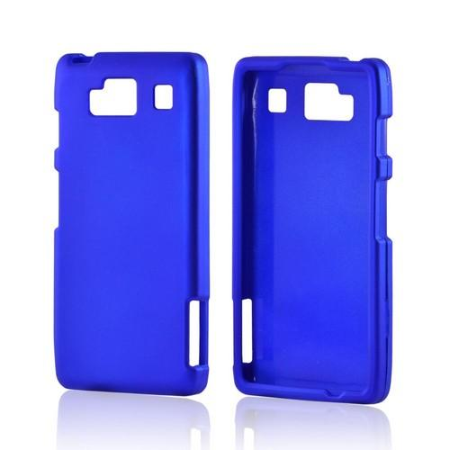 Motorola Droid RAZR MAXX HD Rubberized Hard Case - Blue