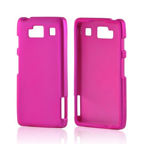 Motorola Droid RAZR MAXX HD Rubberized Hard Case - Hot Pink