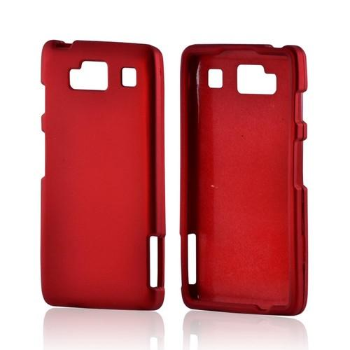 Motorola Droid RAZR MAXX HD Rubberized Hard Case - Red