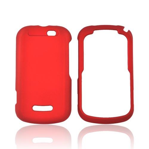 Motorola Clutch+ i475 Rubberized Hard Case - Red