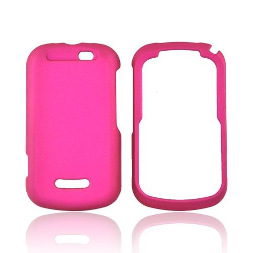 Motorola Clutch+ i475 Rubberized Hard Case - Rose Pink