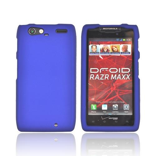 Motorola Droid RAZR MAXX Rubberized Hard Case - Blue