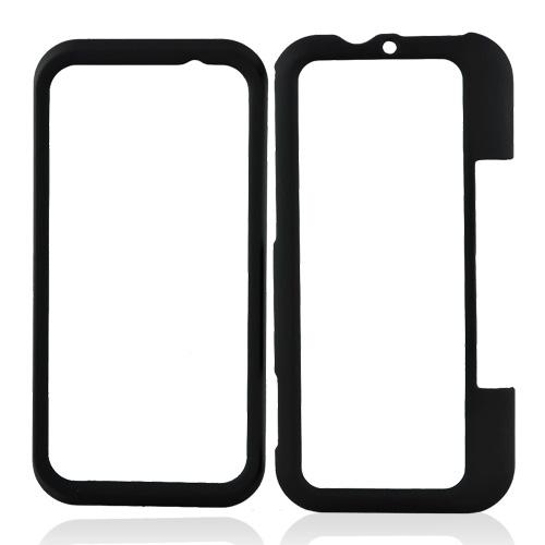 Motorola Backflip MB300 Rubberized Hard Case - Black
