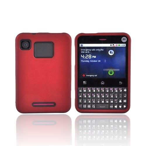 Motorola Charm MB502 Rubberized Hard Case - Red