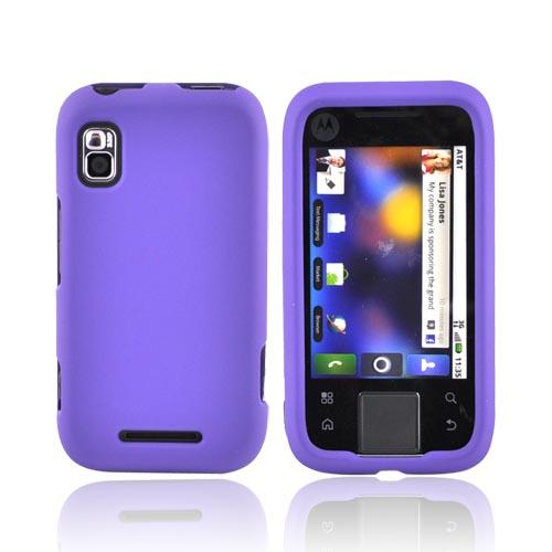 Motorola Flipside MB508 Rubberized Hard Case - Purple