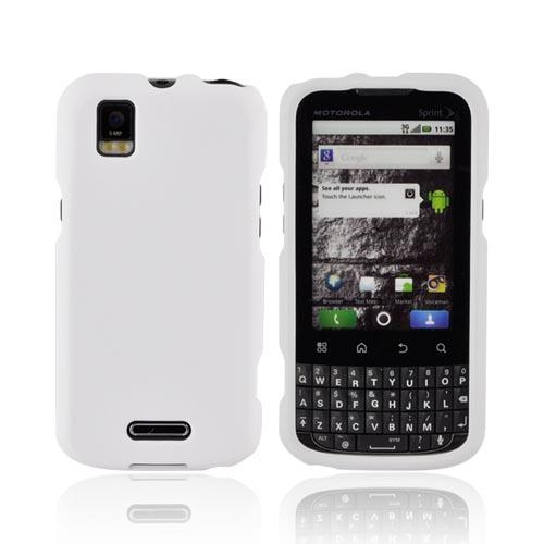 Motorola XPRT MB612 Rubberized Hard Case - Solid White