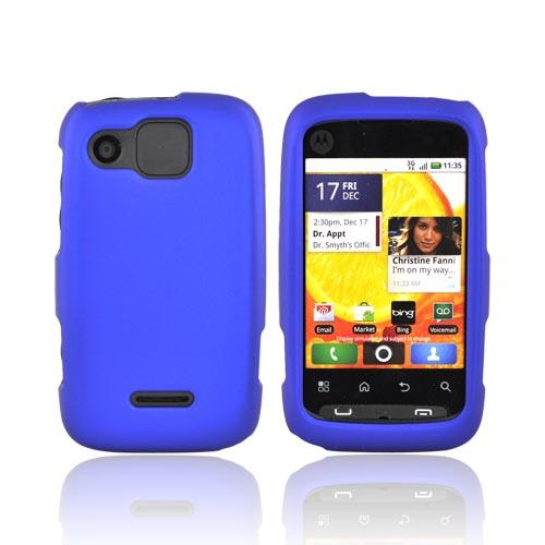 Motorola Citrus WX445 Rubberized Hard Case - Blue