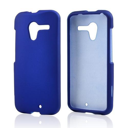 Blue Rubberized Hard Case for Motorola Moto X
