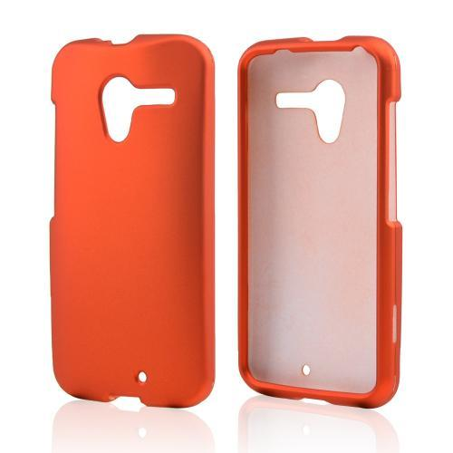 Orange Rubberized Hard Case for Motorola Moto X