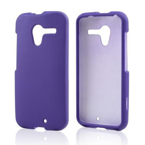 Purple Rubberized Hard Case for Motorola Moto X