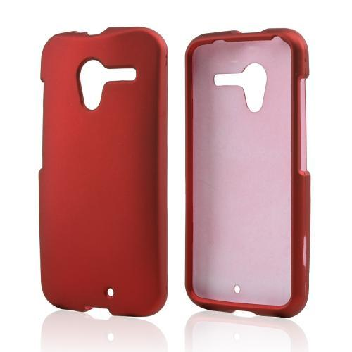 Red Rubberized Hard Case for Motorola Moto X
