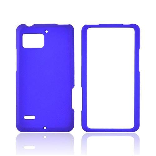 Motorola Droid Bionic XT875 Rubberized Hard Case - Blue