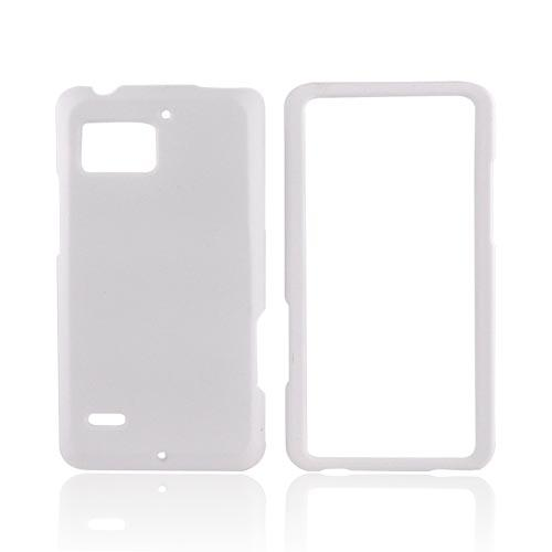 Motorola Droid Bionic XT875 Rubberized Hard Case - Solid White