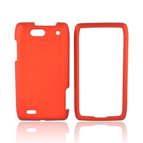Motorola Droid 4 Rubberized Hard Case - Orange
