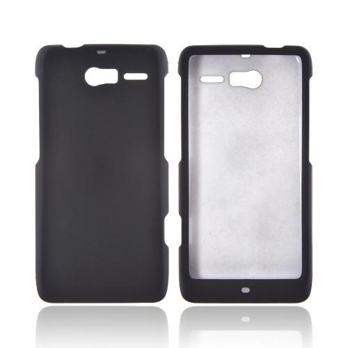 Motorola Droid RAZR M Rubberized Hard Case - Black