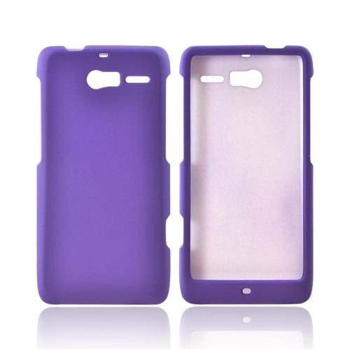 Motorola Droid RAZR M Rubberized Hard Case - Purple
