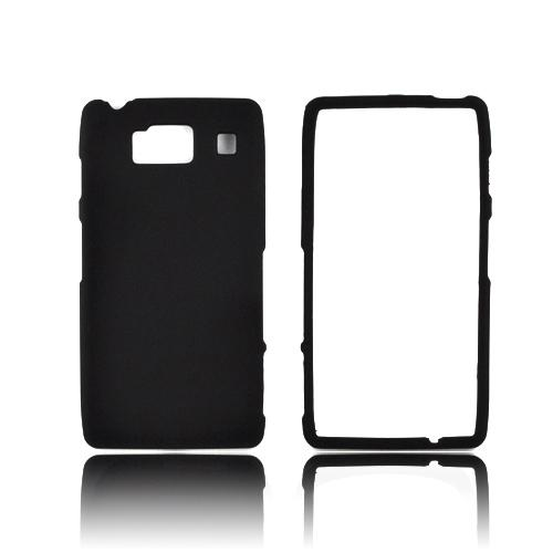Motorola Droid RAZR HD Rubberized Hard Case - Black