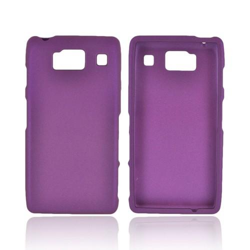 Motorola Droid RAZR HD Rubberized Hard Case - Purple