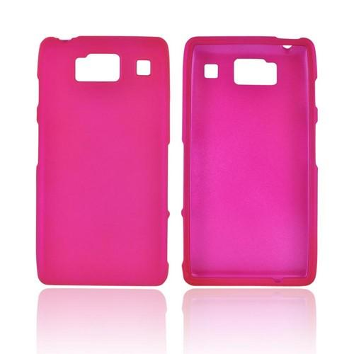 Motorola Droid RAZR HD Rubberized Hard Case - Rose Pink