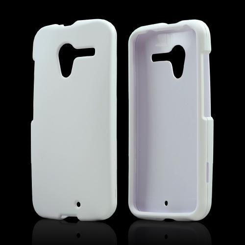 White Rubberized Hard Case for Motorola Moto X