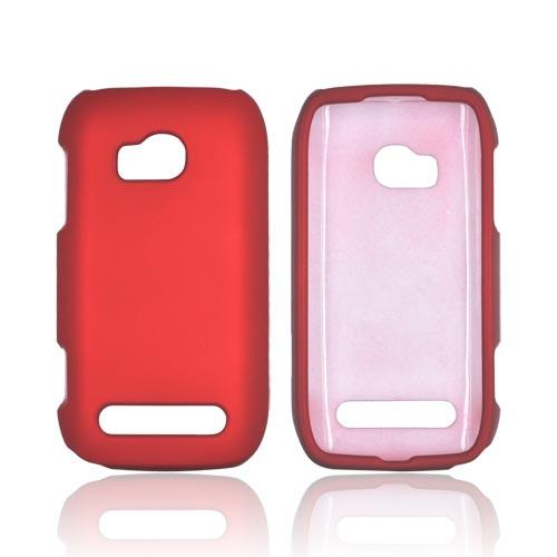 Nokia Lumia 710 Rubberized Hard Case - Red